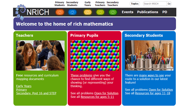 3.5 m users from 230 states access NRICH online math program in 6 months