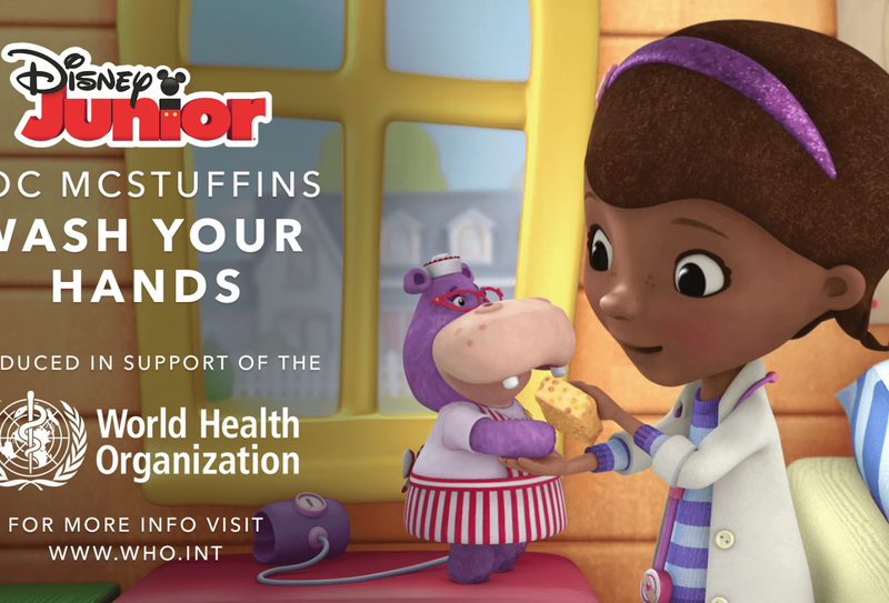 Disney Junior partners with WHO to urge children wash their hands to avoid COVID-19