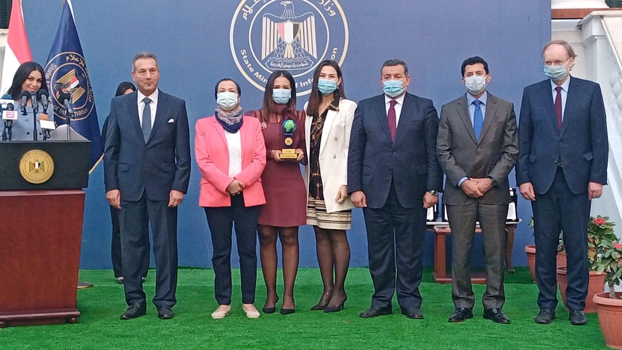 """وزارة الاعلام تكرم """"جهينه"""" لدورها في تحقيق التنمية المستدامة"""
