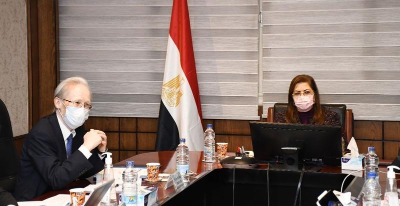 وزيرة التخطيط والسفير الياباني في القاهرة يبحثان أوجه التعاون المشترك