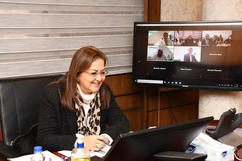 وزيرة التخطيط تتابع أعمال منصة الاستثمار المشتركة بين مصر والإمارات