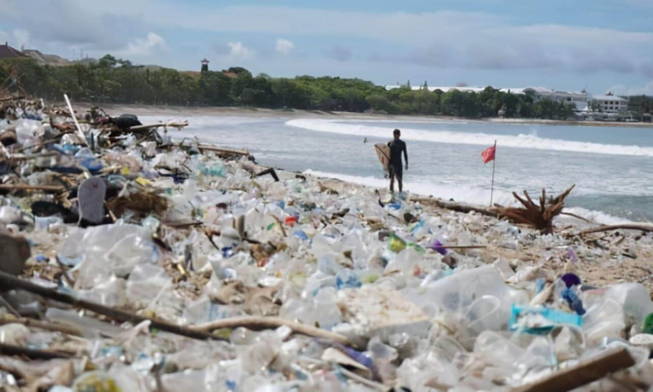 Bali's Kuta Beach cleared of tons of plastic waste