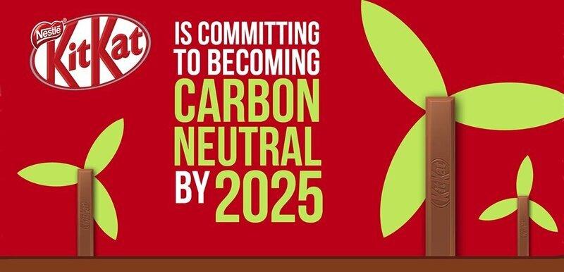 كيت كات تتعهد بالحد من الانبعاثات الكربونية بحلول عام 2025