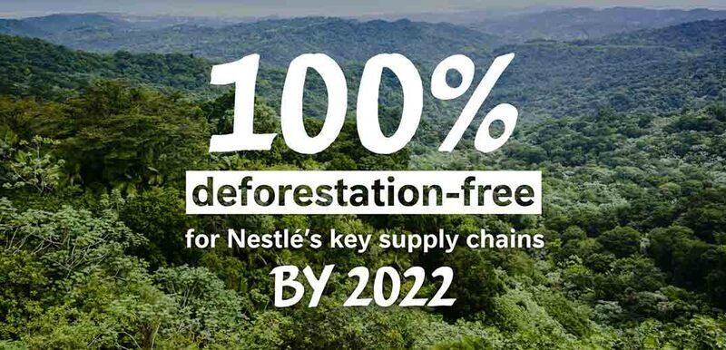 Nestlé's key ingredients to be deforestation-free by 2022