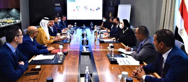 وزيرة التجارة والصناعة تبحث مع الشركات الإماراتية سبل التعاون في الطاقة الشمسية والتجارة الإلكترونية